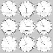 vector clock faces - timezones