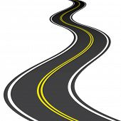 foto of long winding road  - vector road - JPG