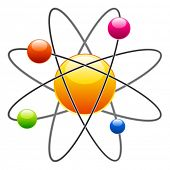 stock photo of neutrons  - vector atom - JPG