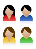 picture of people icon  - Vector male female icons - JPG