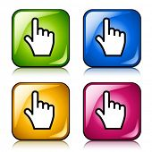 vector smooth cursor hand buttons