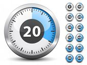 picture of countdown timer  - Vector timer  - JPG