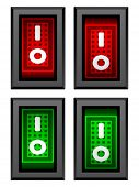 vector rectangle toggle power switches