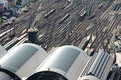 Big Railway Station With Trains