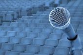 stock photo of public speaking  - Before A Conference - JPG