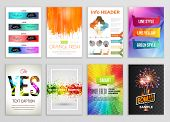 Abstract Backgrounds Set. Geometric Shapes and Frames for Presentation, Annual Reports, Flyers, Broc poster