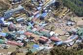 picture of sherpa  - the nice sherpa village Namche Bazar  - JPG