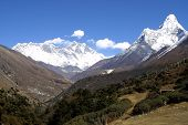 Mount Everest, Lothse And Ama Dablam - Himalaya