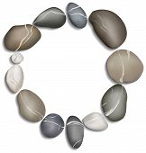 Circle Of Pebbles Background