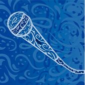 Country Music Background - Microphone