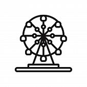Ferris Wheel Icon Isolated On White Background. Ferris Wheel Icon In Trendy Design Style. Ferris Whe poster