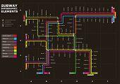 Editable Vector Subway Map