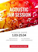 Modern Acoustic Classical Music Poster Flyer. Local Music Festival Announcment, Classical Acoustic C poster