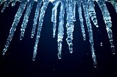 icicles at night