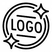 Logo Emblem Icon. Outline Logo Emblem Icon For Web Design Isolated On White Background poster