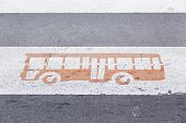 Signal Tram In The City, Detail Of A Signal Public Transport On Asphalt poster