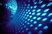 blue disco backdrop