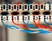 painel central de telefone com fios