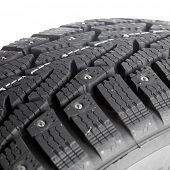 Winter thorn tire macro