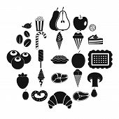 Tasty Treats Icons Set. Simple Set Of 25 Tasty Treats Vector Icons For Web Isolated On White Backgro poster