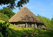 stock photo of mud-hut  - Irish hut - JPG