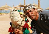 Camel owner portrait
