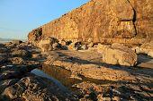 Irish scenery of Fanore cliff