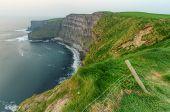 Cliffs of Moher at dusk - Irish national landmark poster