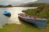 Boats on lake in Killarney National Park, Co. Kerry - Ireland