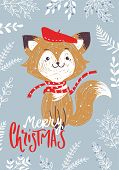 Christmas Posters. Vector Illustration. Template For Greeting Scrapbooking, Congratulations, Invitat poster