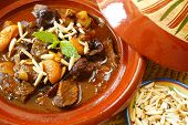 Morrocan beef stew with plums and dried apricots