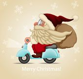 Motorized santa Claus delivery the gifts