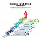 Infographics Business Template With 4 Steps For Presentation, Sale Forecast, Web Design, Improvement poster