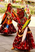 stock photo of tantric  - Bhutan dancer - JPG