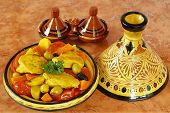 stock photo of tagine  - Moroccan chicken tagine - JPG
