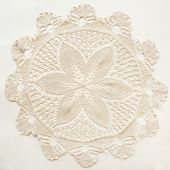 Knitted vintage doily