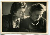 Vintage portrait of two women