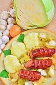 Kielbasa with cabbage