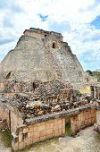 Magician's Pyramid - Mayan ruins in Uxmal, Mexico