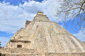 Uxmal, Mexico - Mayan ruins (Pyramid of the Magician)