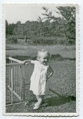 Vintage photo of baby girl (early fifties)