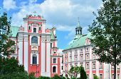 Baroque parish and collegiate church (Fara Poznanska) in Poznan, Poland