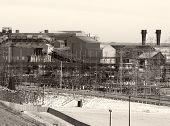 Vintage-Toned Steelmill