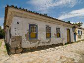 Historic Building, Paraty, Brazil. poster