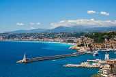 Mediterranean Coastline Of Nice City In Southern France poster