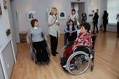 People With Disabilities At An Exhibition Of Contemporary Art