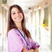 Portrait of a friendly nurse