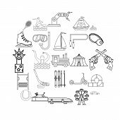 Physical Culture Icons Set. Outline Set Of 25 Physical Culture Icons For Web Isolated On White Backg poster
