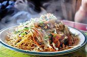 pic of darjeeling  - vegetarian chowmein served in a restaurant in Darjeeling India - JPG