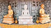 3 Buddha Images In Phnom Penh, Cambodia